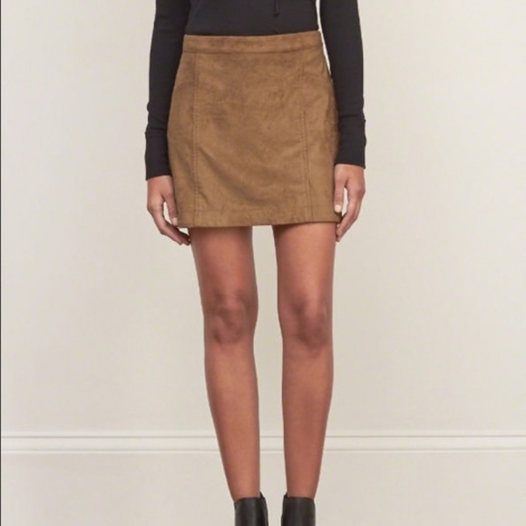 Abercrombie & Fitch Dresses & Skirts - Abercrombie & Fitch Faux Suede Skirt